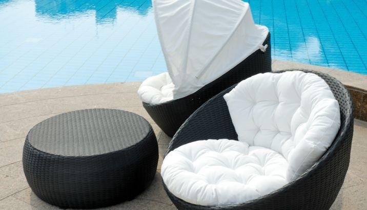 Lounge sessel rattan  Set 700 Sessel und Liegesofa · KRINES Rattan Teak Fichte Outdoor ...