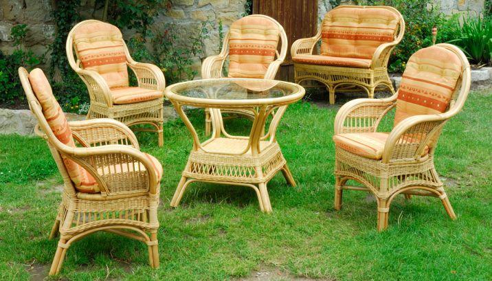 Rattanmöbel wintergarten  Rattan · KRINES Rattan Teak Fichte Outdoor Lounge Lifestyle Möbel ...