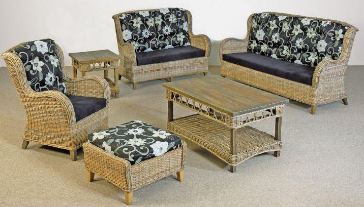 Rattanmöbel wohnzimmer  Set Ellen · KRINES Rattan Teak Fichte Outdoor Lounge Lifestyle Möbel ...