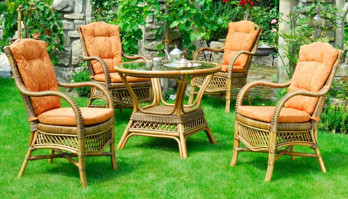 set new orleans krines rattan teak fichte outdoor lounge. Black Bedroom Furniture Sets. Home Design Ideas
